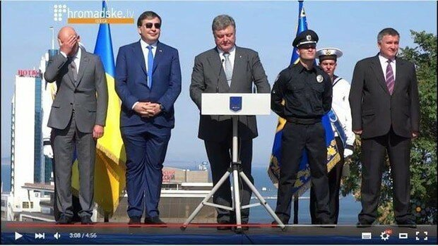 Штаны Саакашвили стали поводом для насмешек в соцсетях