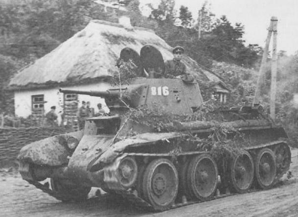 Бой танка БТ-7 сержанта Найдина с колонной немецких танков в районе по