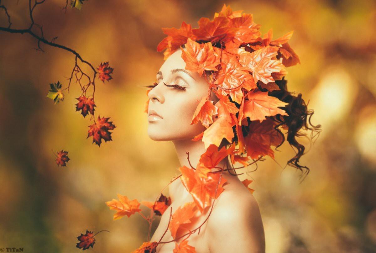 Девушки и осень