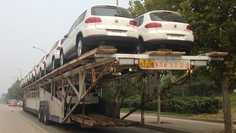 Автовоз рекордных размеров замечен в Китае