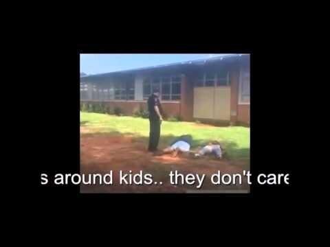 Как в США разнимают школьную драку полиция