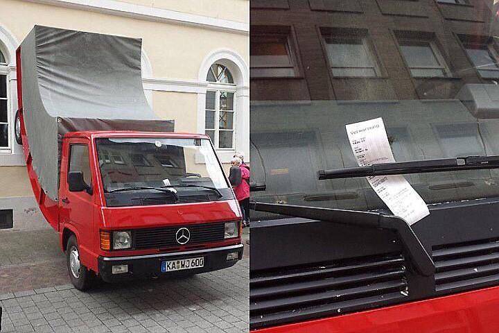 В Германии оштрафовали за парковку памятник!
