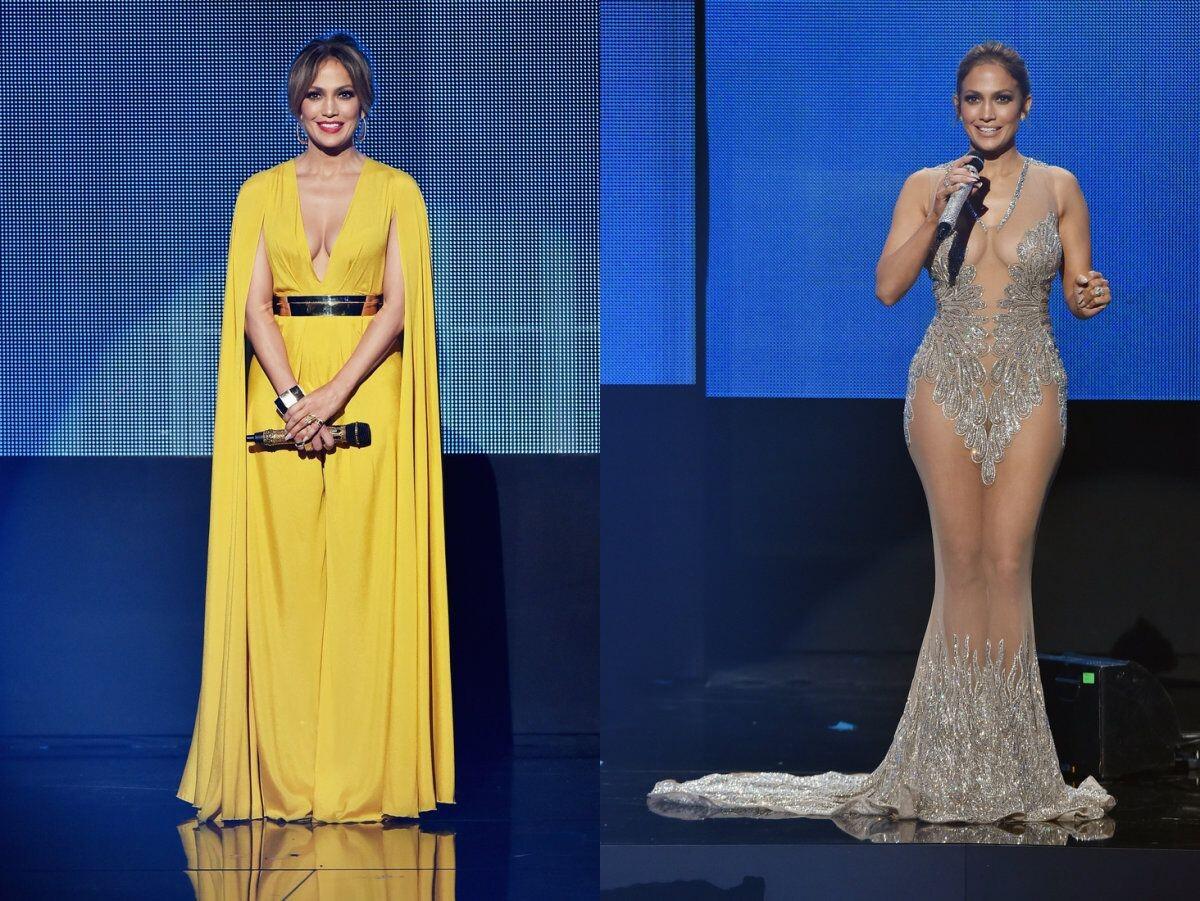 Дженнифер Лопес за 2 часа мероприятия сменила 10 платьев и причесок
