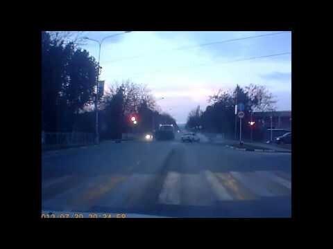 Авария с полицейским УАЗОМ