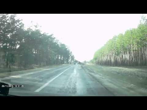 Лесовоз опрокинулся