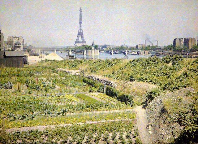 Удивительные цветные фото Парижа, сделанные более 100 лет назад