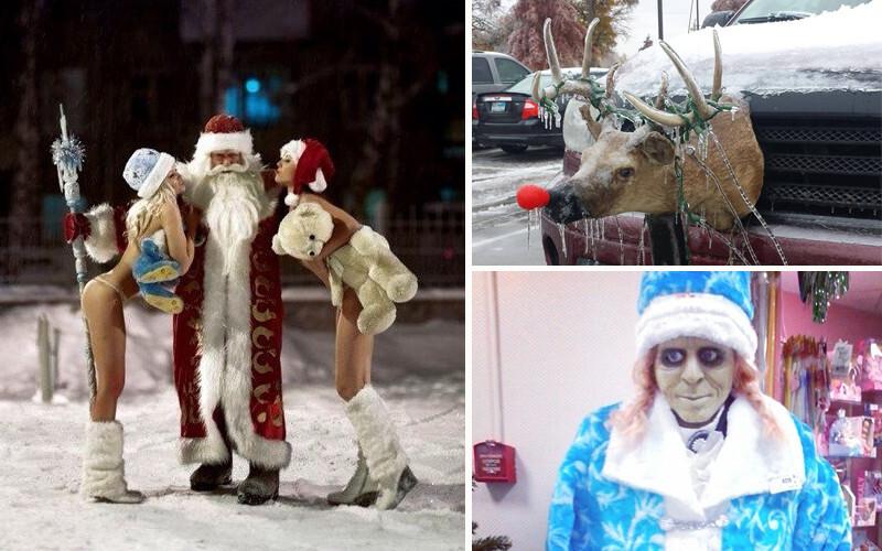 Такими Деда Мороза и Снегурочку вы еще не видели