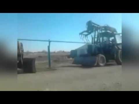 Оригинальный способ завести трактор