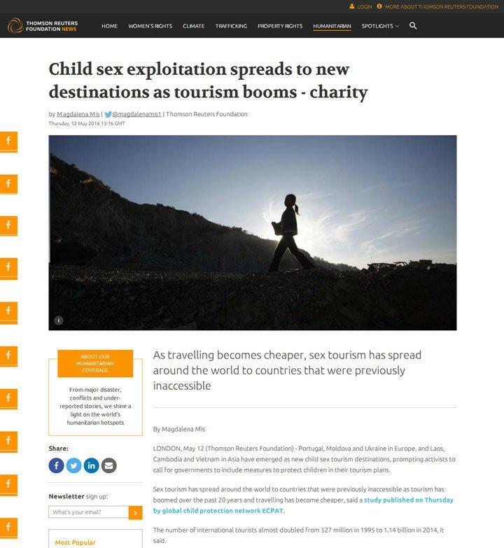 Украина стала европейским лидером по детскому секс-туризму
