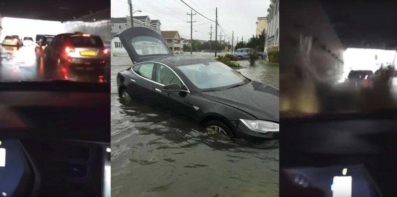 Tesla Model S в крайнем случае можно использовать как лодку