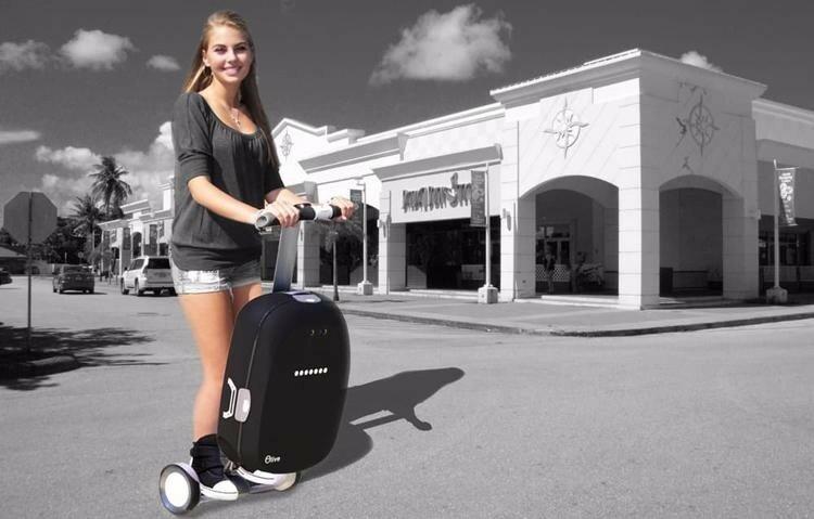 Olive: гибрид «умного» чемодана и гироскутера
