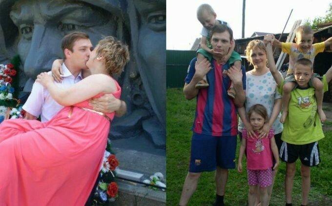 Свадьба года: 23-летний сибиряк без памяти влюбился в 38-летнюю маму 11 детей