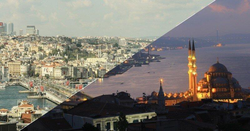 Стамбул - золотой город днем и ночью