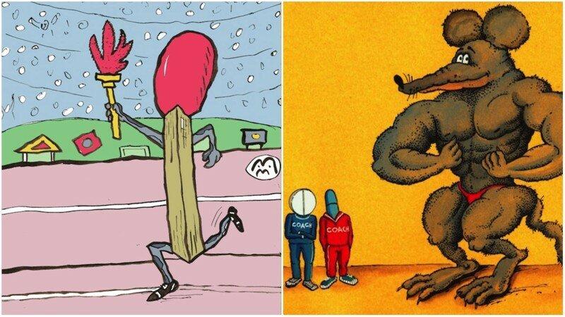 Весёлые карикатуры «Бесэдера?» про Олимпийские игры