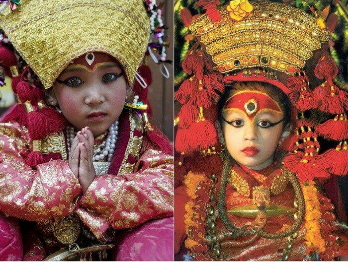 Кумари - непальские живые богини