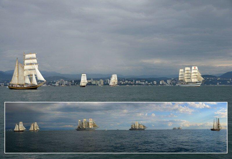Старт заключительного этапа Черноморской регаты больших парусников