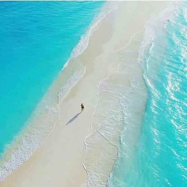 Природная дорога на Мальдивах