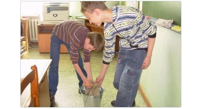 Школьников хотят снова заставить мыть полы!