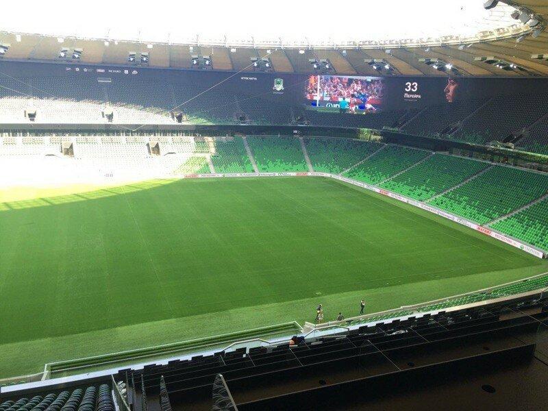 Как выглядит стадион «Краснодара» за неделю до матча-открытия