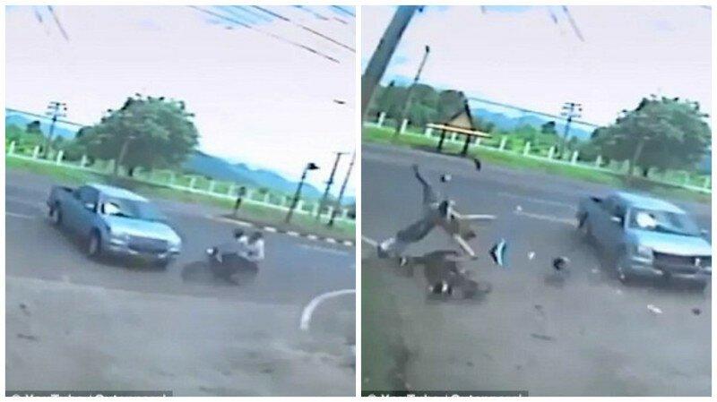 Страшное видео: призрак женщины отделился от ее тела после автокатастрофы