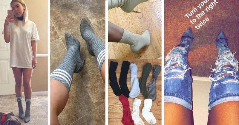 Мир сошел с ума: носки теперь носят поверх лодочек на шпильке