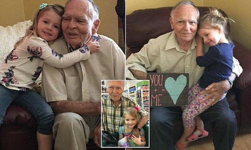 4-летняя девочка вернула 82-летнему вдовцу радость жизни