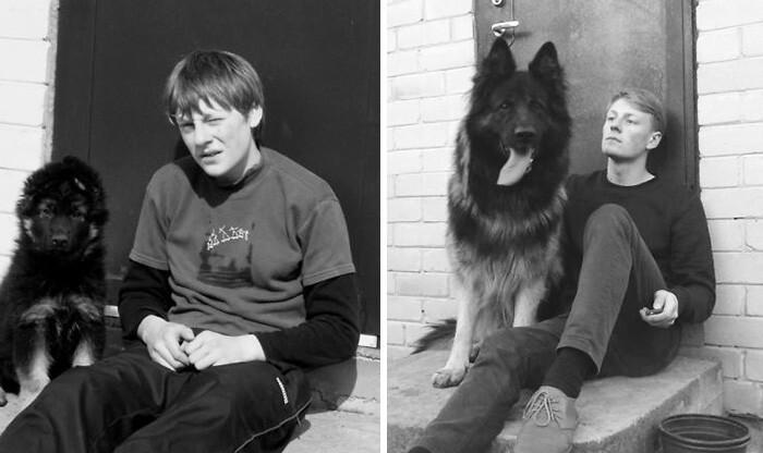 До и после: фотографии собак и хозяев