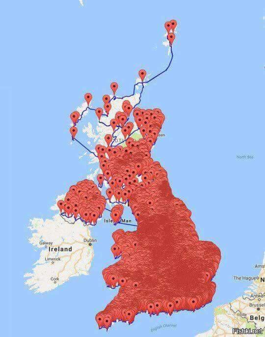 Для вашего удобства мы собрали все пабы Великобритании на одной карте