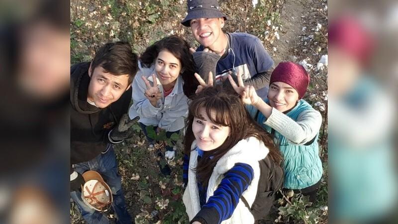 Как узбекские студенты празднуют окончание сбора хлопка