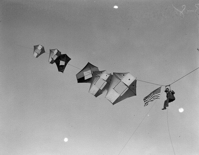 Воздушные змеи-разведчики с человеком «на борту» времен Первой мировой войны