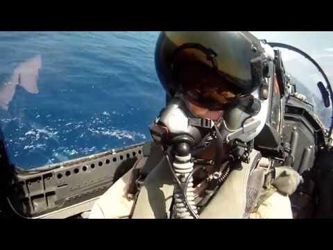 Не сбылись детские мечты. F⁄A 18 Super Hornet. Вид из кабины