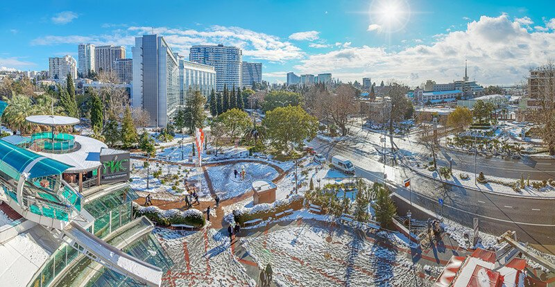 Зимний декабрьский день в Сочи