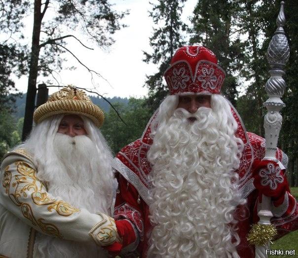 Российский Дед Мороз и Белорусский