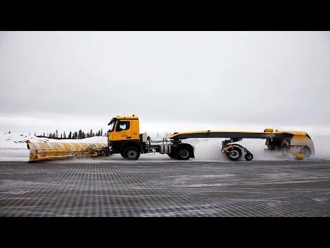 Самая большая подметально уборочная машина в мире