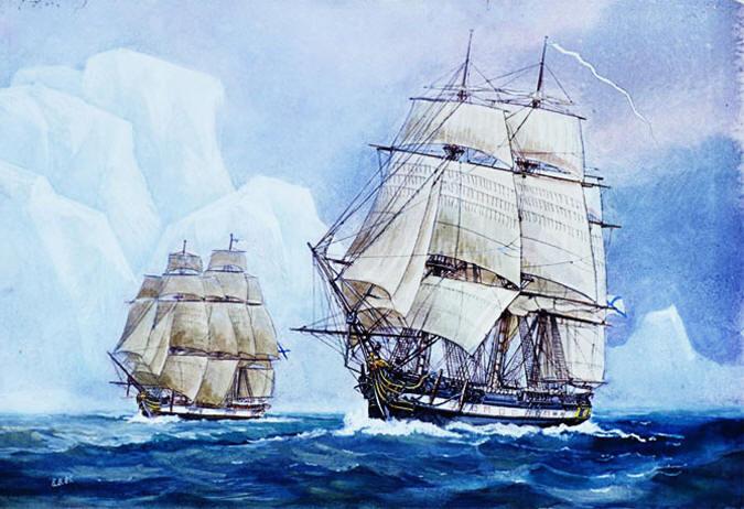 Как русские Антарктиду открывали