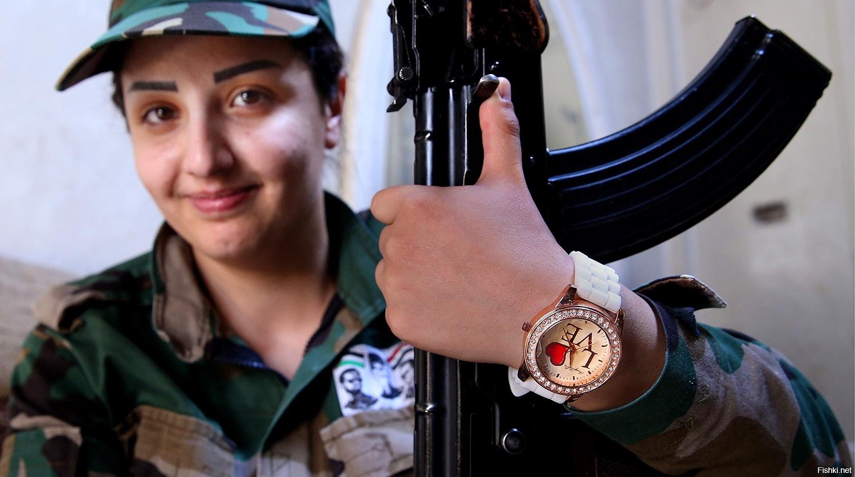В Сирии существует женский ДОБРОВОЛЬЧЕСКИЙ батальон