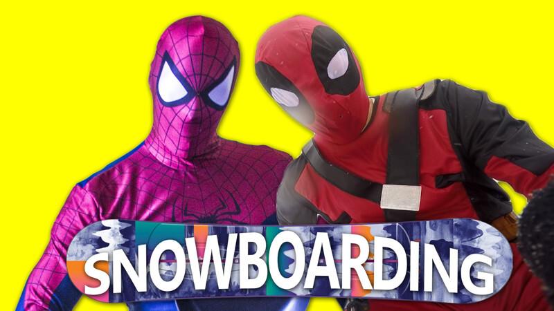 Дедпул против Человека Паука: Сумасшедшие Сноубордисты