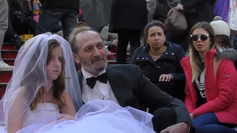 Социальный эксперимент: как жители Нью-Йорка отреагировали на свадьбу 66-летнего жениха и 12-летней невесты