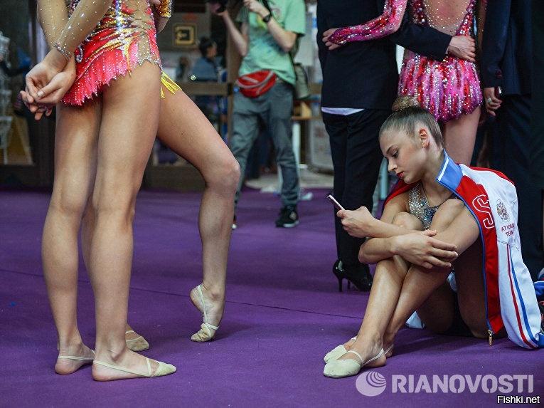 Российская спортсменка Александра Солдатова после окончания соревнований турн...
