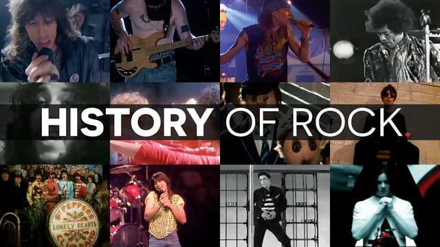 15-минутная история рок музыки, стилизованная под новостную ленту Facebook!