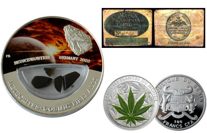 Самые необычные банкноты и монеты мира