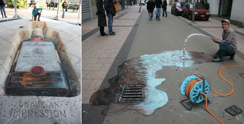30 объемных рисунков на тротуарах, которые взорвут вам мозг