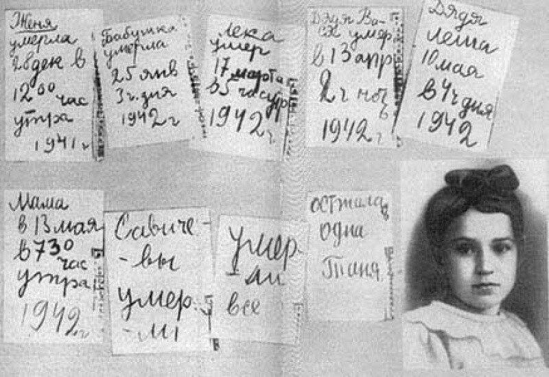 9 строк о смерти. Таня Савичева написала самый страшный дневник войны