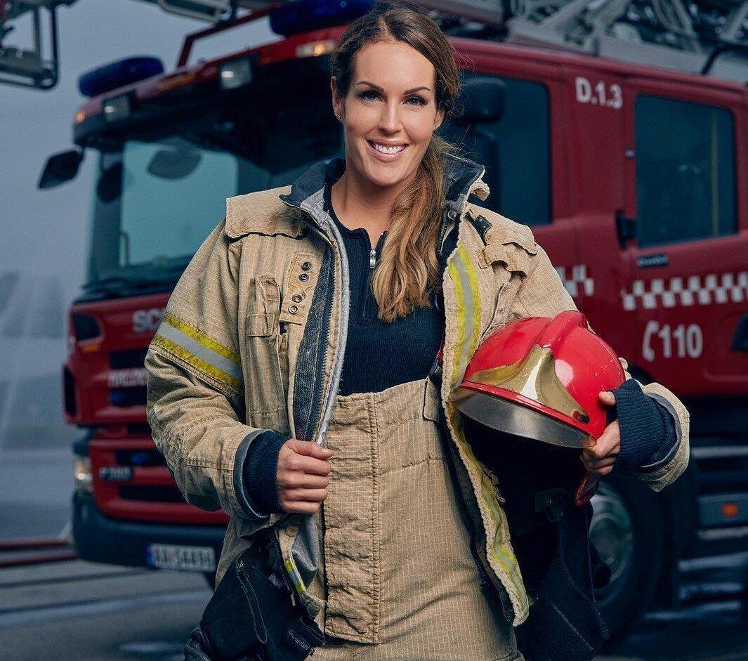 Гунн Нартен, «самая красивая женщина-пожарный»