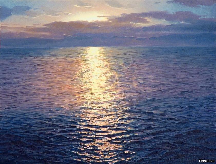 Море на картинах испанского художника Альфредо Наварро просто живое