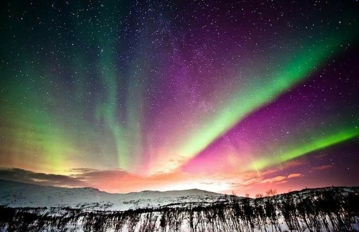 Полярное сияние (северное сияние) — чудо природы