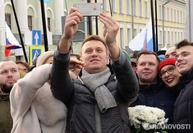 Поминали Немцова, порвали три баяна