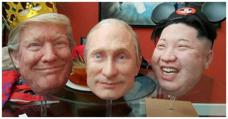 Путин, Трамп и Ким Чен Ын устроили танцы на фестивале в Калифорнии