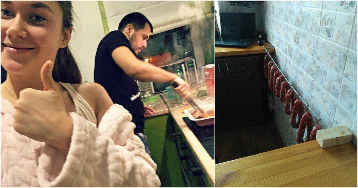 Хорошо, когда дома есть рукастый мужик, который любит поесть!