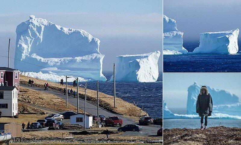 К берегам Канады приплыл огромный айсберг!